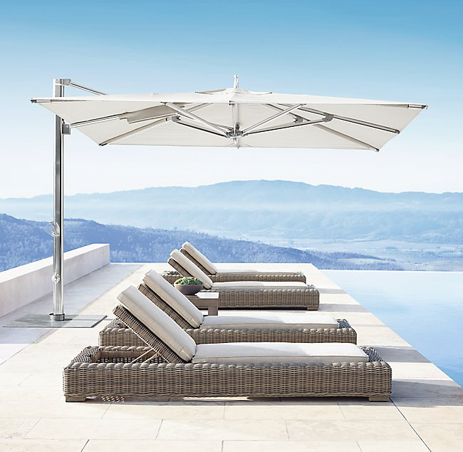 Ocean Master MAX Single Cantilever, Poolside - White