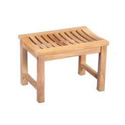 "24"" Outdoor Teak Backless Bench"