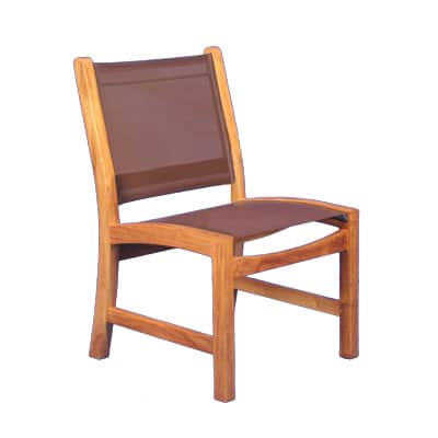 Outdoor Teak and sling dining chair
