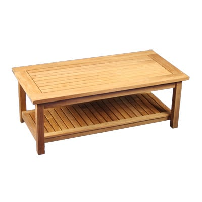 """Teak 48""""rectangle two level coffee table"""