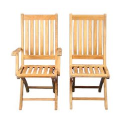 Outdoor Teak Folding Chairs