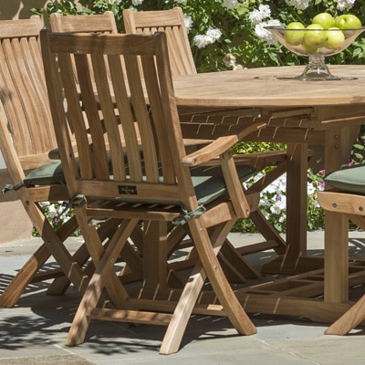 Outdoor Teak Folding Arm Chair