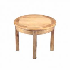 "Outdoor Teak 24"" Round side table"