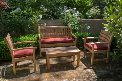 Outdoor Teak Bench and Chairs