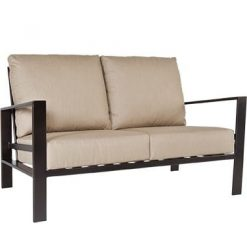 Gios Outdoor Two Cushion Couch, Furniture - Metal