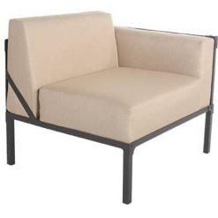 Creighton Collection Left Sectional Chair, Beige