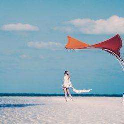 Tuuci Stingray Umbrella, Commercial - Orange