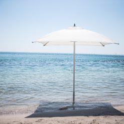 Tuuci Bay Master Fiber Flex Umbrella, Beach Side - White