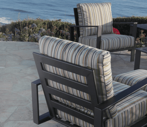 Gios Four Leg Chairs, Patio - Striped