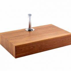 Half Aluma Crete Cube Anchor Teak, Wooden