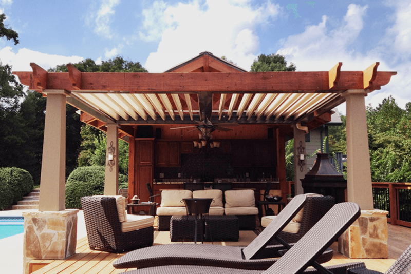 Struxure Pergola, Residential Design - Wood Accent