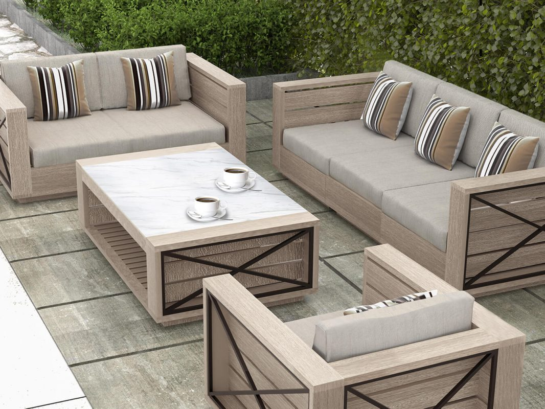 Altarra Couch Set, Modern Outdoor Furniture