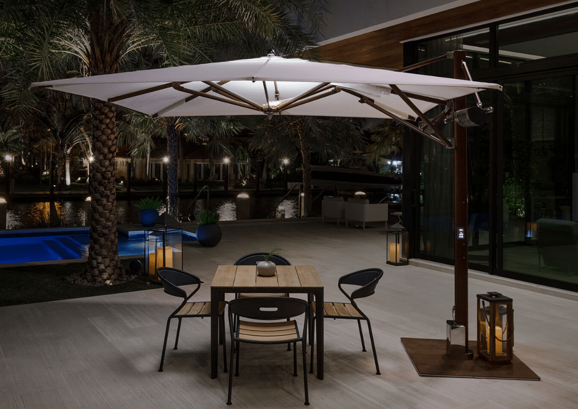 Ocean Master MAX PLANTATION CANTILEVER UMBRELLA WITH AUTOMATION and LIGHTS