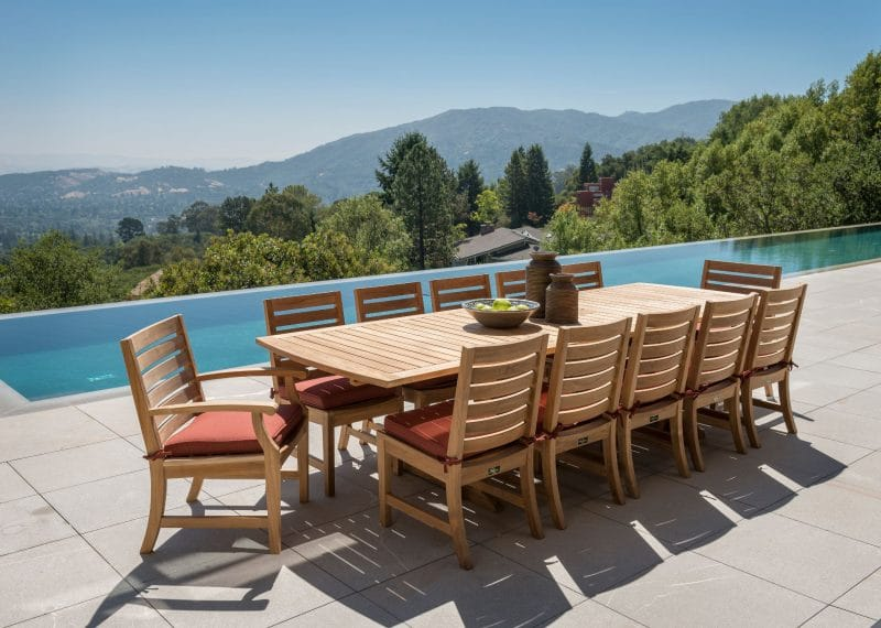 Outdoor Teak table and chairs for 12