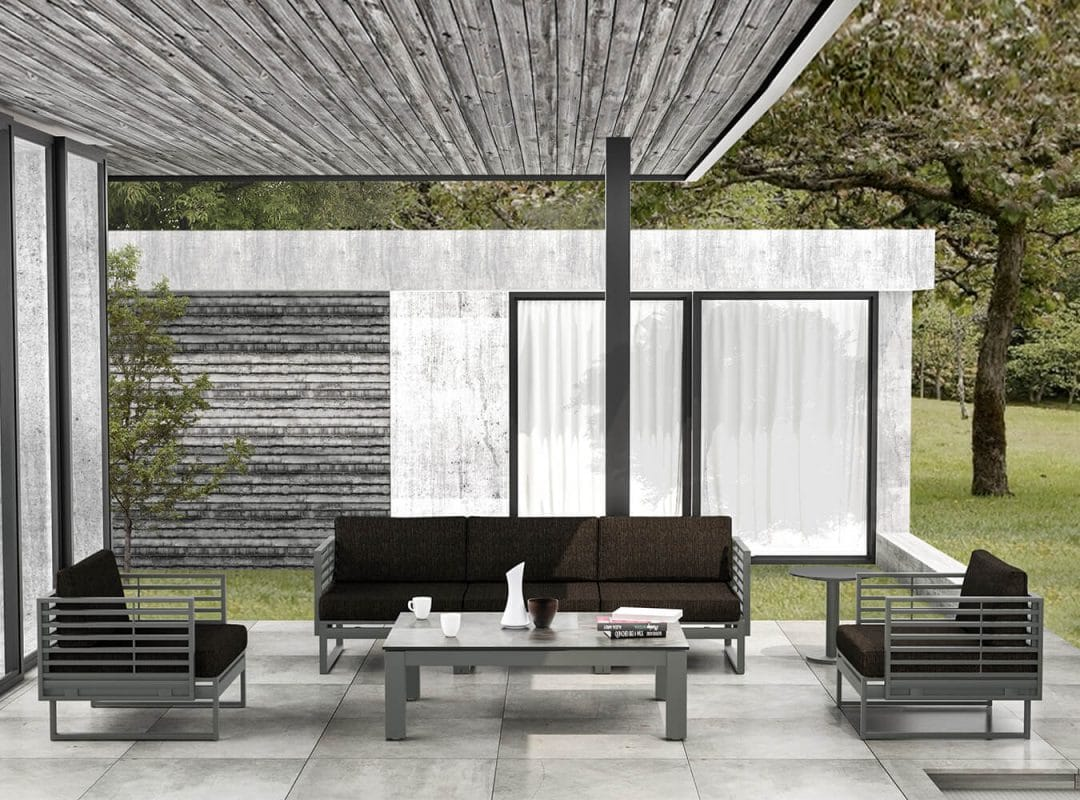 Attesa Couch and Chair Set, Modern Outdoor Furniture