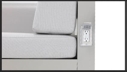 Tuuci Equinox Electrical Outlet Feature
