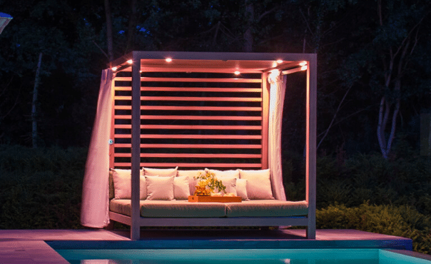 Tuuci Equinox Cabana Roof and Back Package with Lighting