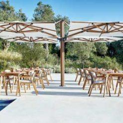 Jardinico JCP.501 Quad Sidepost Four Umbrella - White