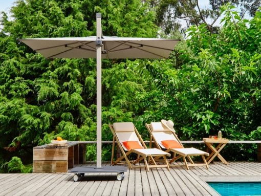 Jardinico JCP.301 Umbrella, Pool Side - Flat White