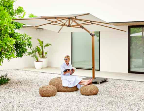 Jardinico JCP.301 Umbrella, Lounge Setting - White