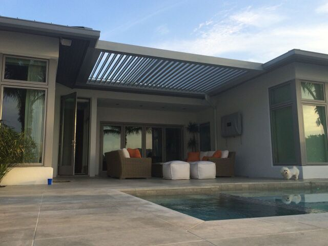 Stuxure Patio Cover, Residential - Pool Side