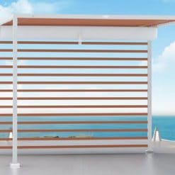 Tuuci Eclipse Cabana, Wood and White Finish