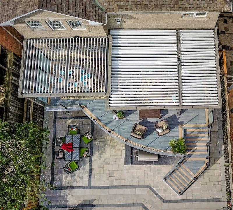 Struxure Pergola, Residential Grade -Aerial