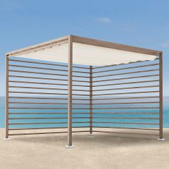 Tuuci Eclipse Cabana One Side, Waterside - Tan White Roof