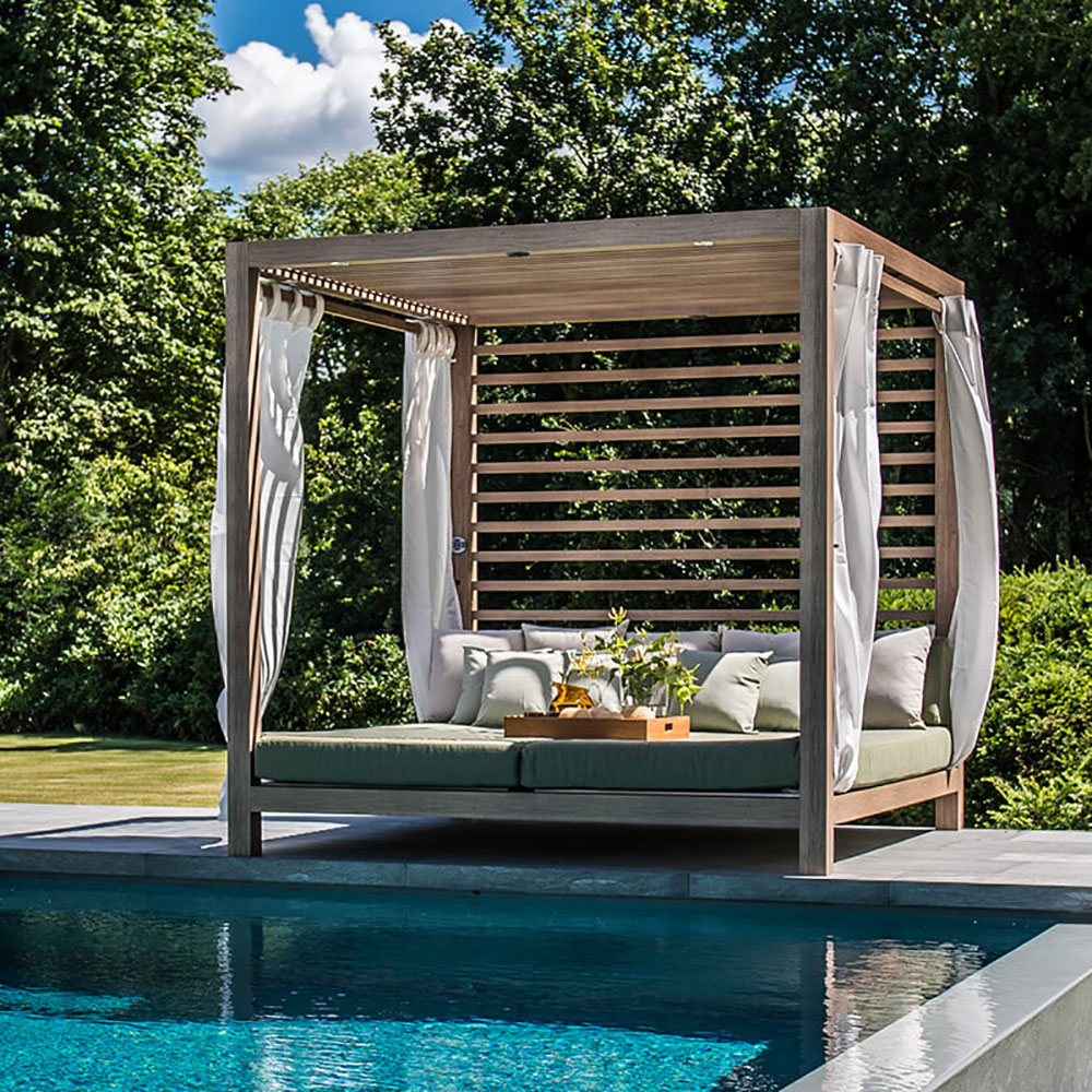 Tuuci Equinox Cabana, Back Wall and Roof - Poolside